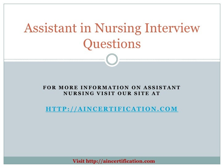 how to answer nursing interview questions