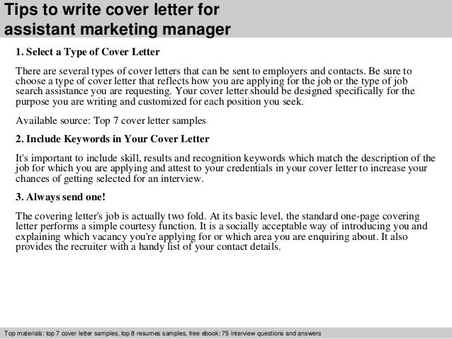 great cover letters for marketing jobs