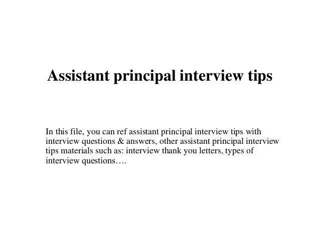 a cover letter assistant principal tips 20318 | assistant principal interview tips 1 638