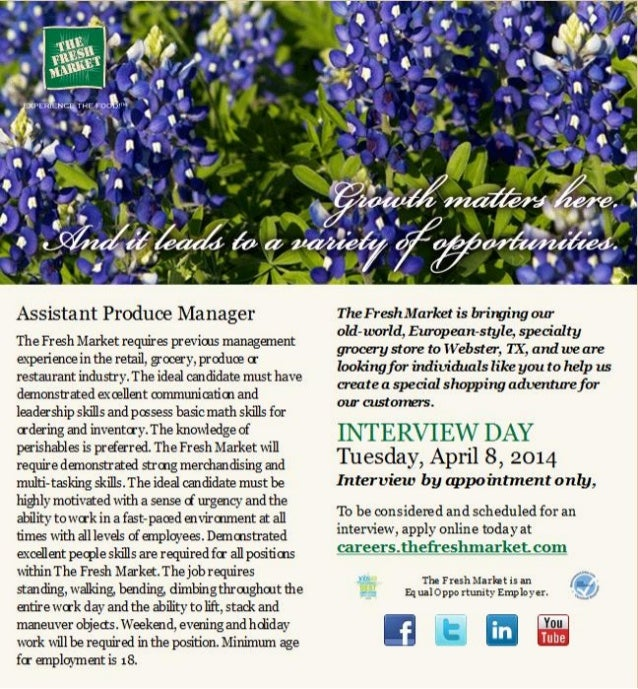 Assistant Produce Manager Job Openings Webster, TX