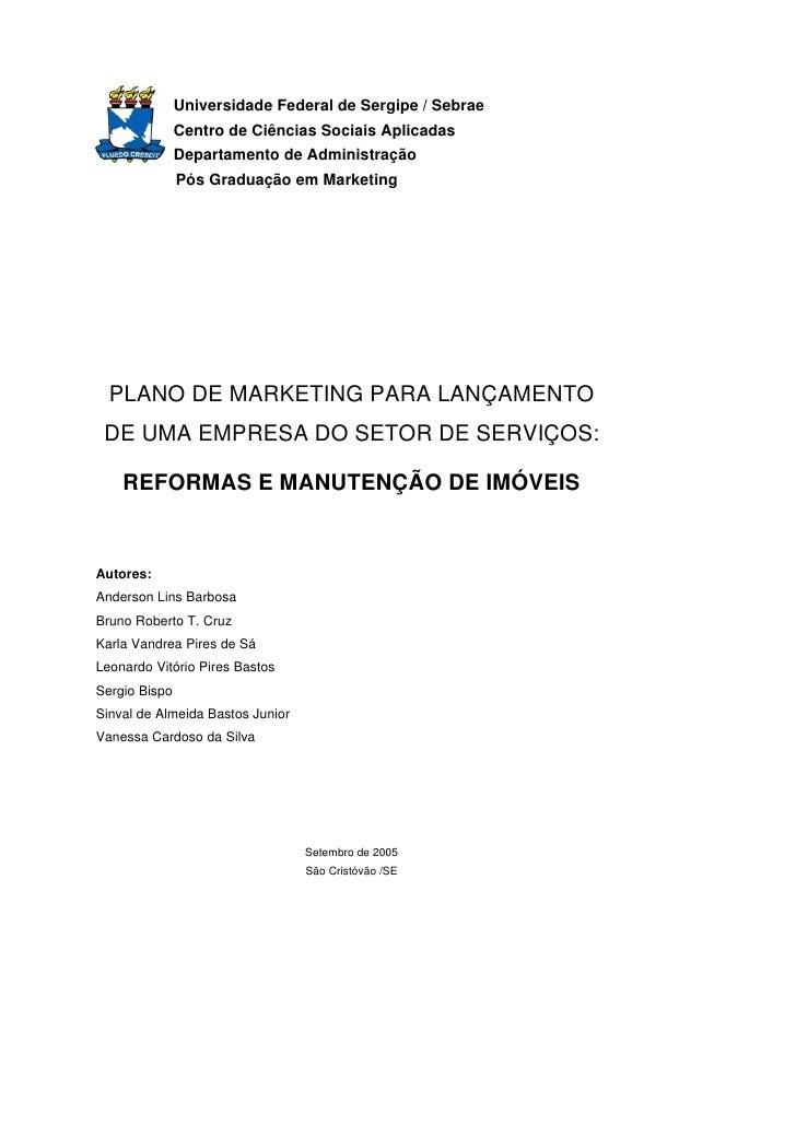 Universidade Federal de Sergipe / Sebrae                Centro de Ciências Sociais Aplicadas                Departamento d...