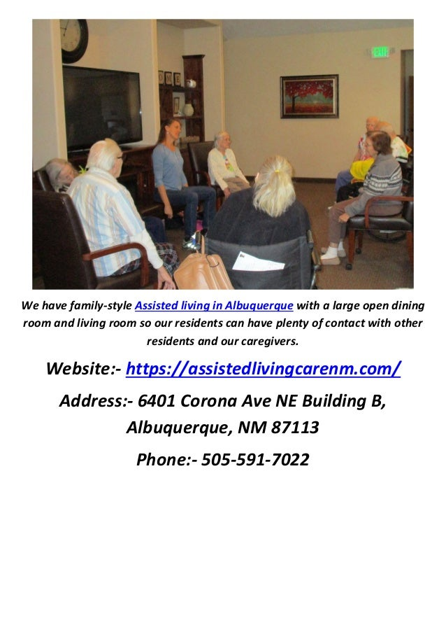 3 We Have Family Style Assisted Living In Albuquerque With A Large Open Dining Room