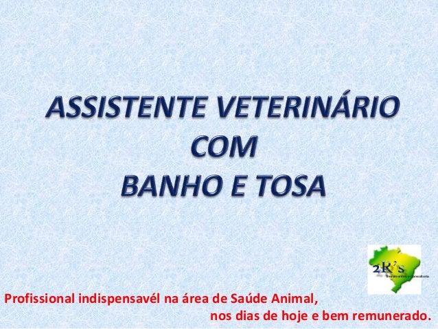 Profissional indispensavél na área de Saúde Animal, nos dias de hoje e bem remunerado. Treinamentos e Consultoria