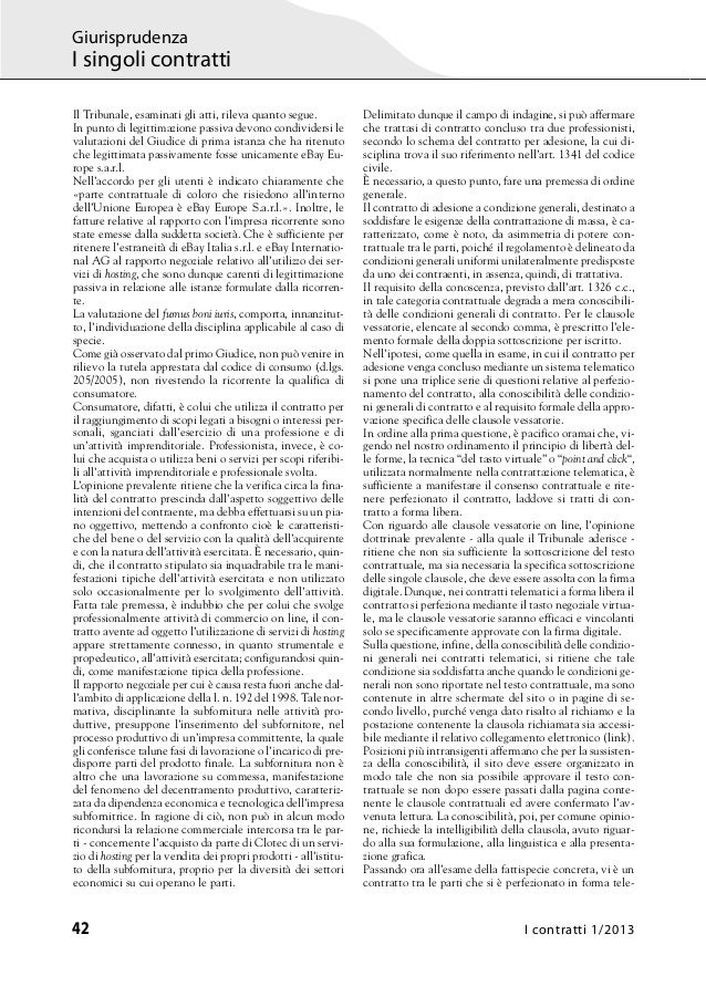 Contratti Online e Clausole Vessatorie - Studio Legale Pandolfini Assistenza Legale Imprese Slide 2