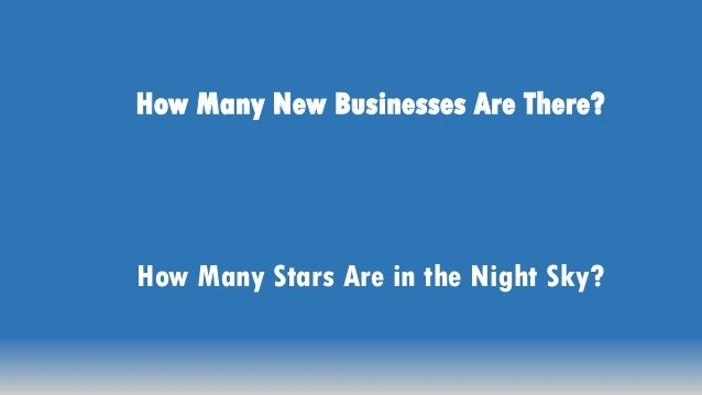 How Many Stars Are in the Night Sky? How Many New Businesses Are There?