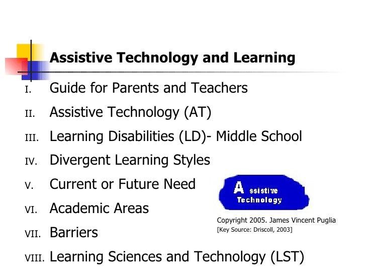 Assistive Technology and Learning <ul><li>Guide for Parents and Teachers </li></ul><ul><li>Assistive Technology (AT) </li>...