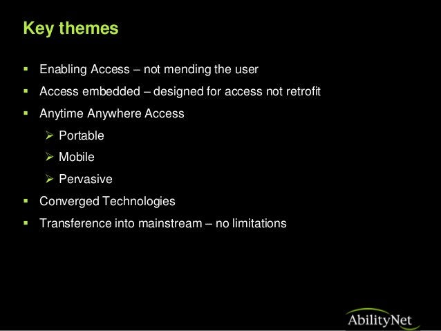 Assistive Technology past present and future