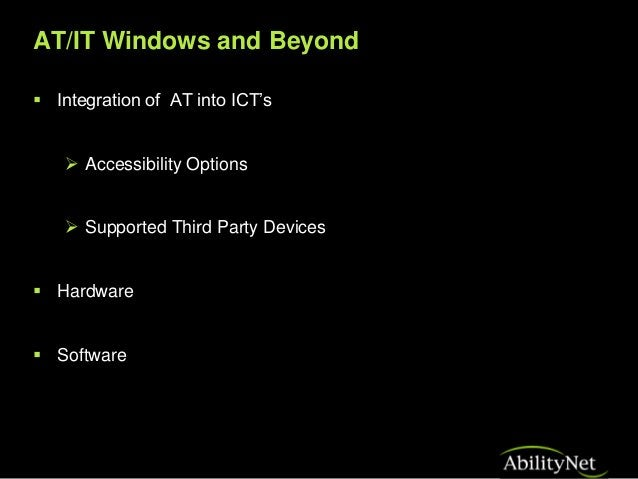Accessibility and the OS