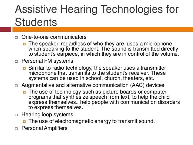 Considering Assistive Technology for Students with Disabilities