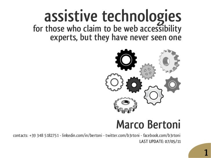 assistive technologies           for those who claim to be web accessibility                experts, but they have never s...