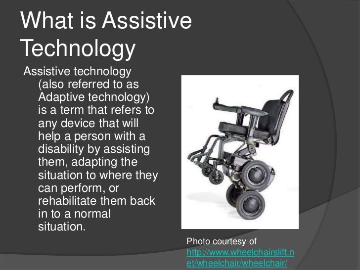 Assistive technologies for students with special needs