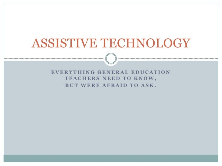 Everything general education teachers need to know, <br />but were afraid to ask.<br />Dawn Vorel<br />Itec 7530<br />Geor...