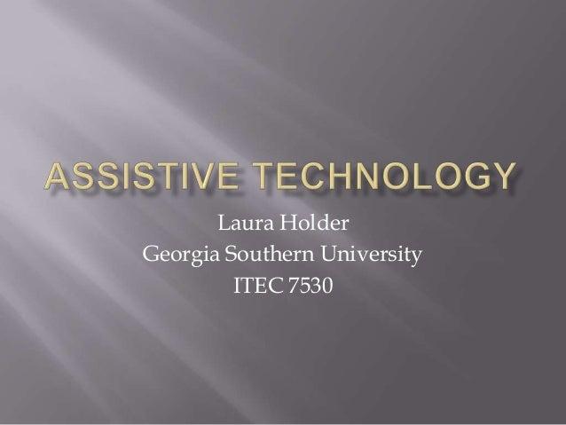 Laura HolderGeorgia Southern University         ITEC 7530