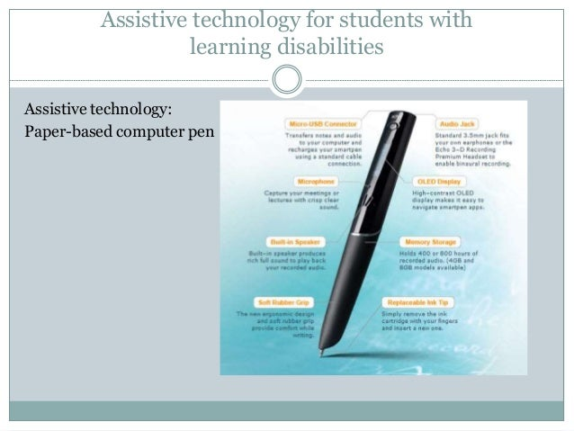 thesis on assistive technology for communication disorders Assistive technologies that support specific disorders the following sections describe some of the disabilities or special needs your students may exhibit as well as examples of assistive technologies available to support them.