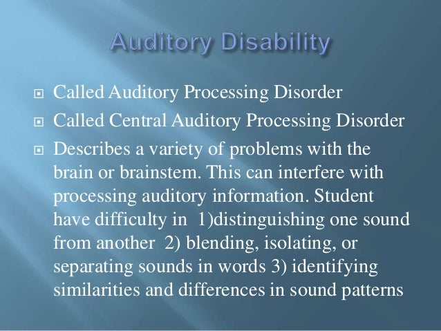 Assisitive Technology and Instructional Practices for ADHD, Auditory …
