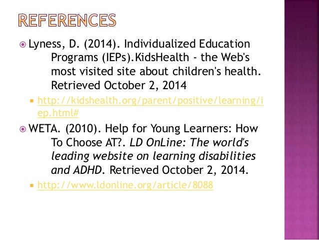 Individualized Education Programs Ieps For Parents Kidshealth >> Iep And Assistive Technology