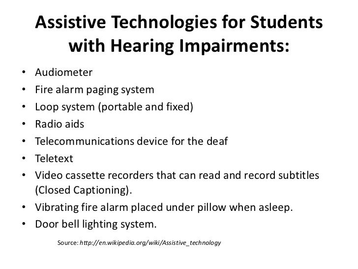 Assistive Technology For Special Needs Students