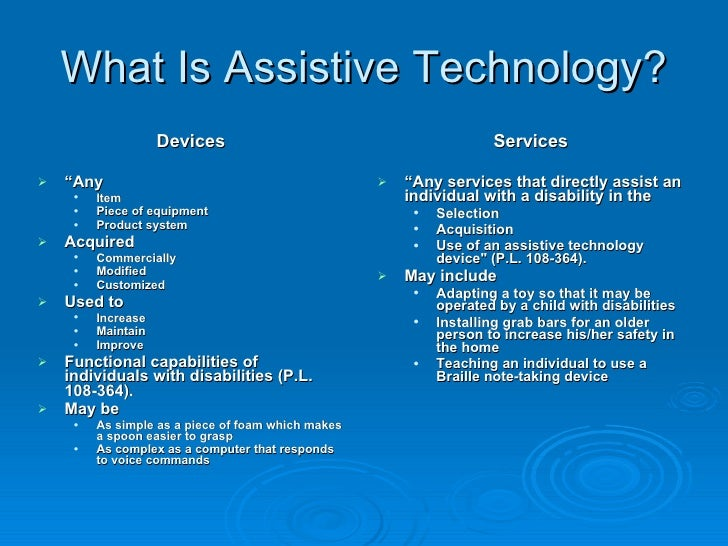 Assistive Tech Intro Definitions And Descriptions Of Various Types