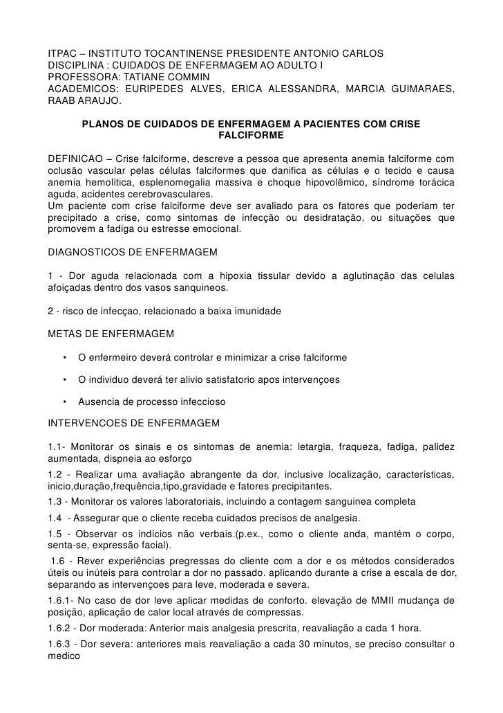 ITPAC – INSTITUTO TOCANTINENSE PRESIDENTE ANTONIO CARLOSDISCIPLINA : CUIDADOS DE ENFERMAGEM AO ADULTO IPROFESSORA: TATIANE...
