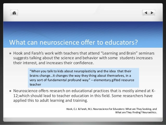 Neuroscience and Learning