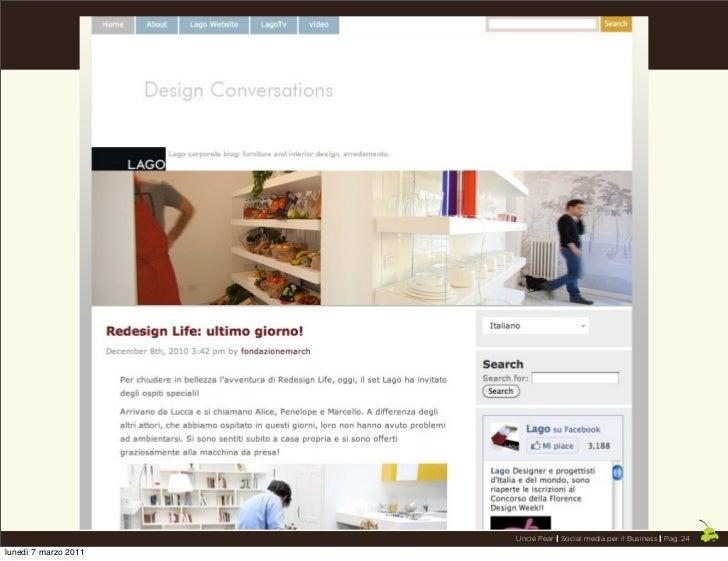 Uncle Pear | Social media per il Business | Pag. 24lunedì 7 marzo 2011