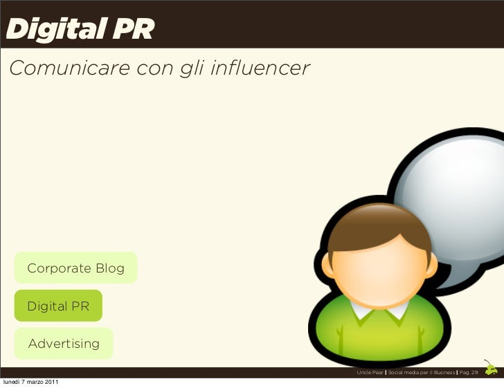 Digital PR Comunicare con gli influencer        Corporate Blog        Digital PR        Advertising                       ...