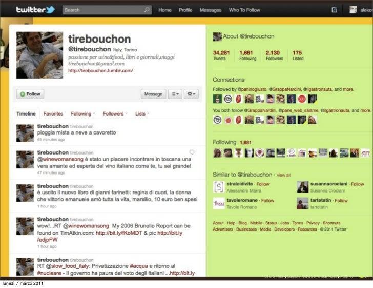 Twitter                      Uncle Pear | Social media per il Business | Pag. 47lunedì 7 marzo 2011
