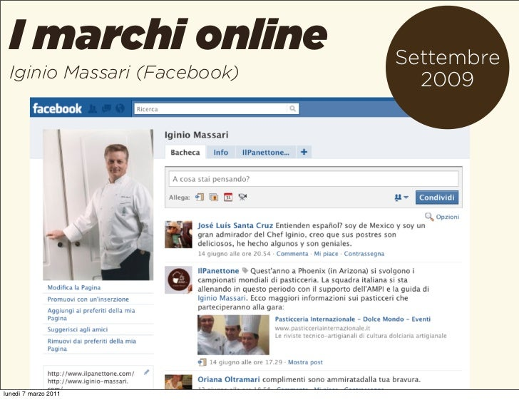 I marchi online            Settembre Iginio Massari (Facebook)     2009lunedì 7 marzo 2011
