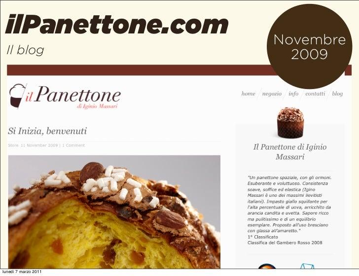 ilPanettone.com      Novembre Il blog                2009lunedì 7 marzo 2011