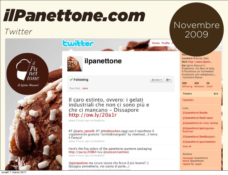 ilPanettone.com      Novembre Twitter                2009lunedì 7 marzo 2011