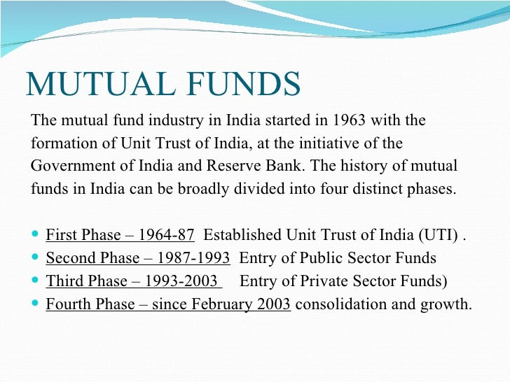 scope of mutual fund in india Questions on mutual funds  structure in india 5 iv growth in mutual fund industry 6  a project report on awarness of mutual fund and its scope at karvy stock.