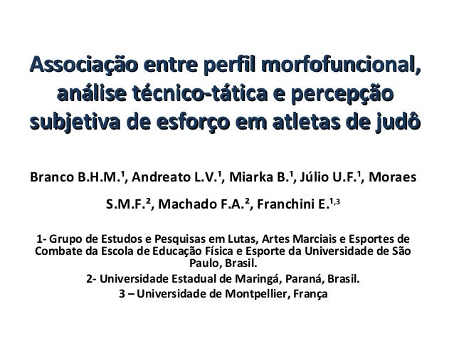 Associação entre perfil morfofuncional,Associação entre perfil morfofuncional,análise técnico-tática e percepçãoanálise té...
