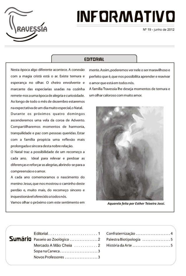 Associação Travessia Informativo Nov. 2012