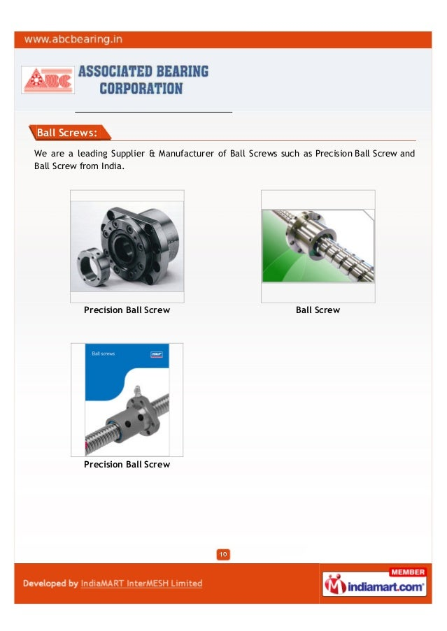 Ball Screws:We are a leading Supplier & Manufacturer of Ball Screws such as Precision Ball Screw andBall Screw from India....