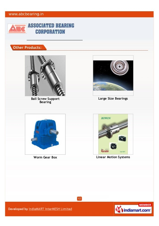 Other Products:Ball Screw SupportBearingLarge Size BearingsWorm Gear Box Linear Motion Systems
