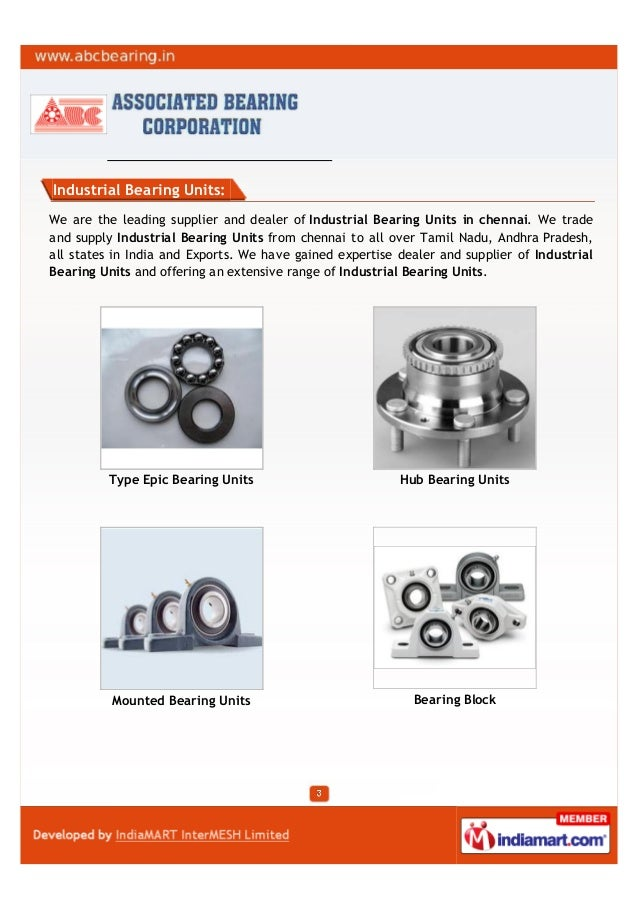 Industrial Bearing Units:We are the leading supplier and dealer of Industrial Bearing Units in chennai. We tradeand supply...