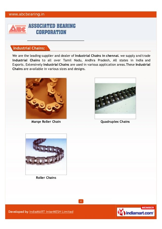 Industrial Chains:We are the leading supplier and dealer of Industrial Chains in chennai. we supply and tradeIndustrial Ch...