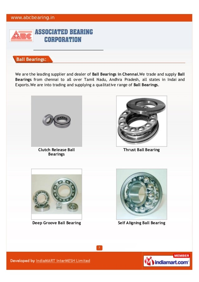 Ball Bearings:We are the leading supplier and dealer of Ball Bearings in Chennai.We trade and supply BallBearings from che...