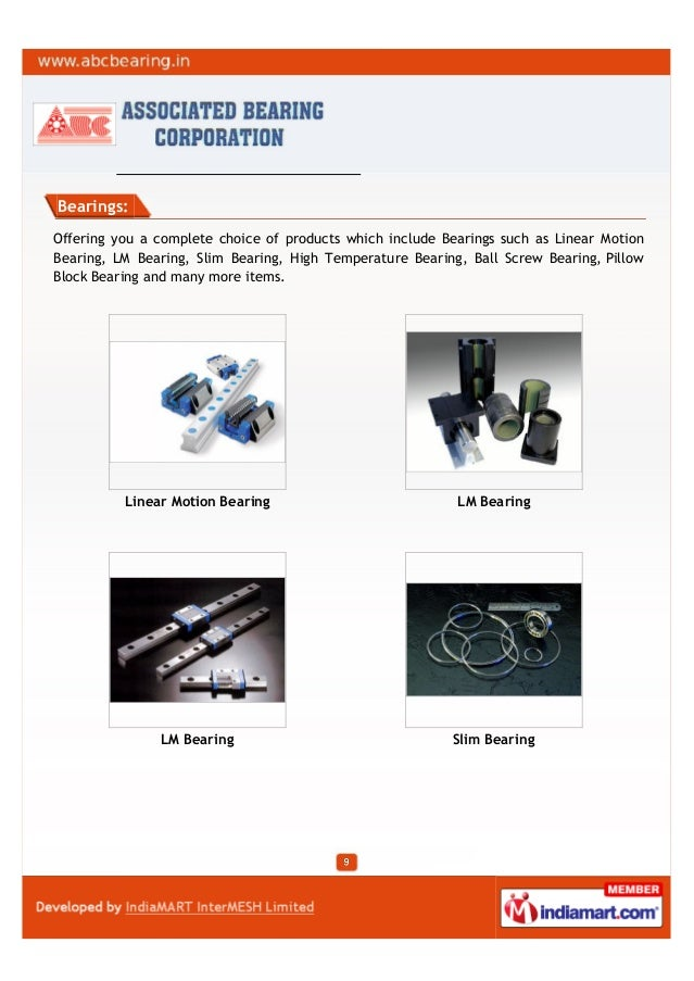 Bearings:Offering you a complete choice of products which include Bearings such as Linear MotionBearing, LM Bearing, Slim ...