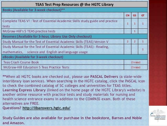 Teas test dates