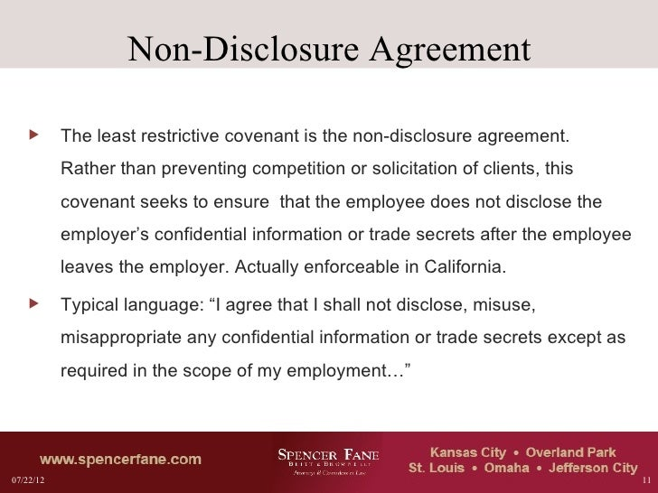 Non Compete Agreements Analysis And Drafting