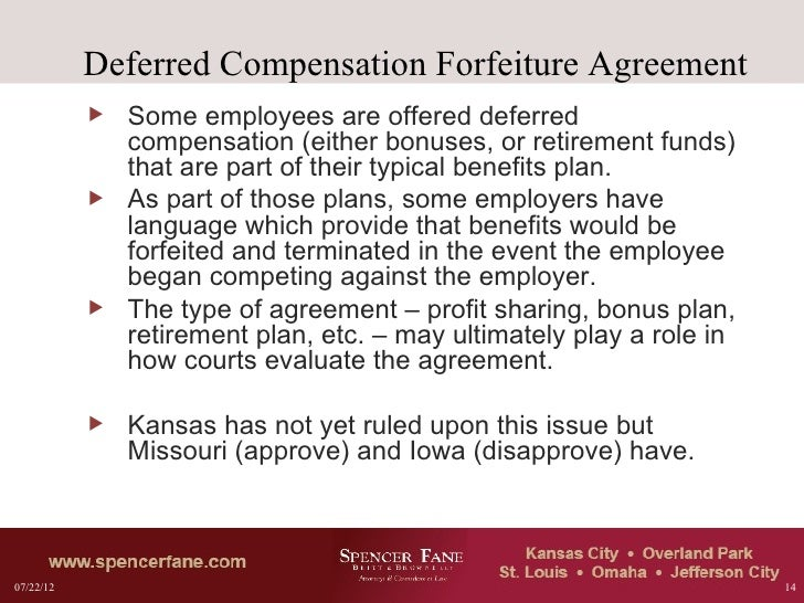 typical non compete clause