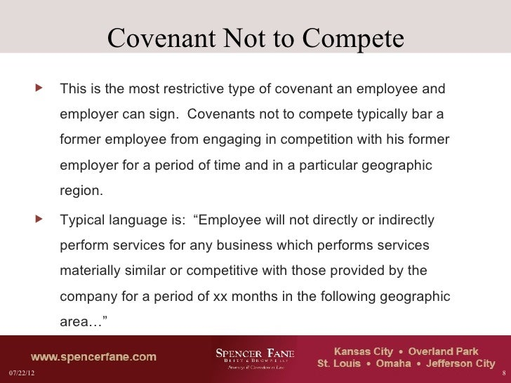 Non-compete Agreements: Analysis and Drafting