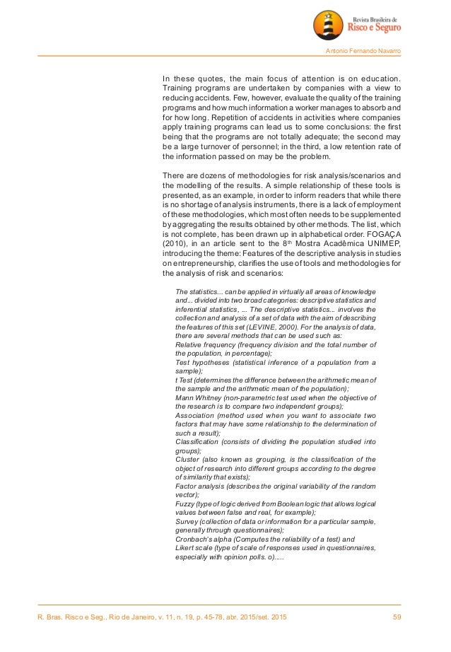 R. Bras. Risco e Seg., Rio de Janeiro, v. 11, n. 19, p. 45-78, abr. 2015/set. 2015 59 Antonio Fernando Navarro  In these...