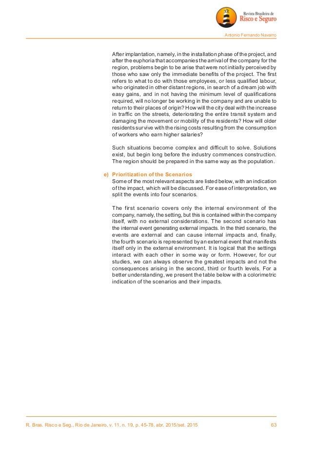 R. Bras. Risco e Seg., Rio de Janeiro, v. 11, n. 19, p. 45-78, abr. 2015/set. 2015 63 Antonio Fernando Navarro  After im...