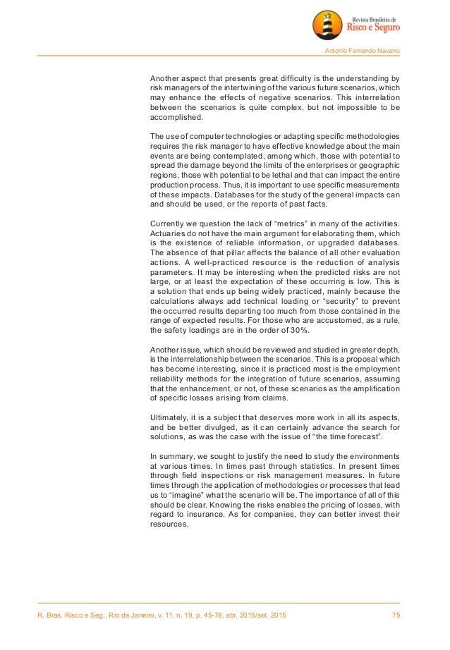 R. Bras. Risco e Seg., Rio de Janeiro, v. 11, n. 19, p. 45-78, abr. 2015/set. 2015 75 Antonio Fernando Navarro  Another ...