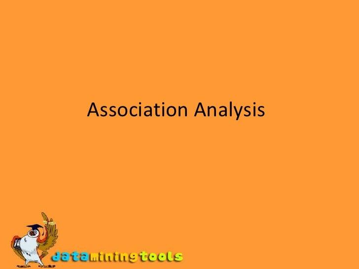 Association Analysis<br />