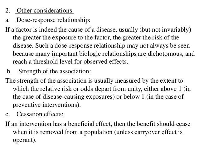 Association and causation