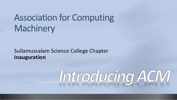 Sullamussalam Science College ChapterInauguration