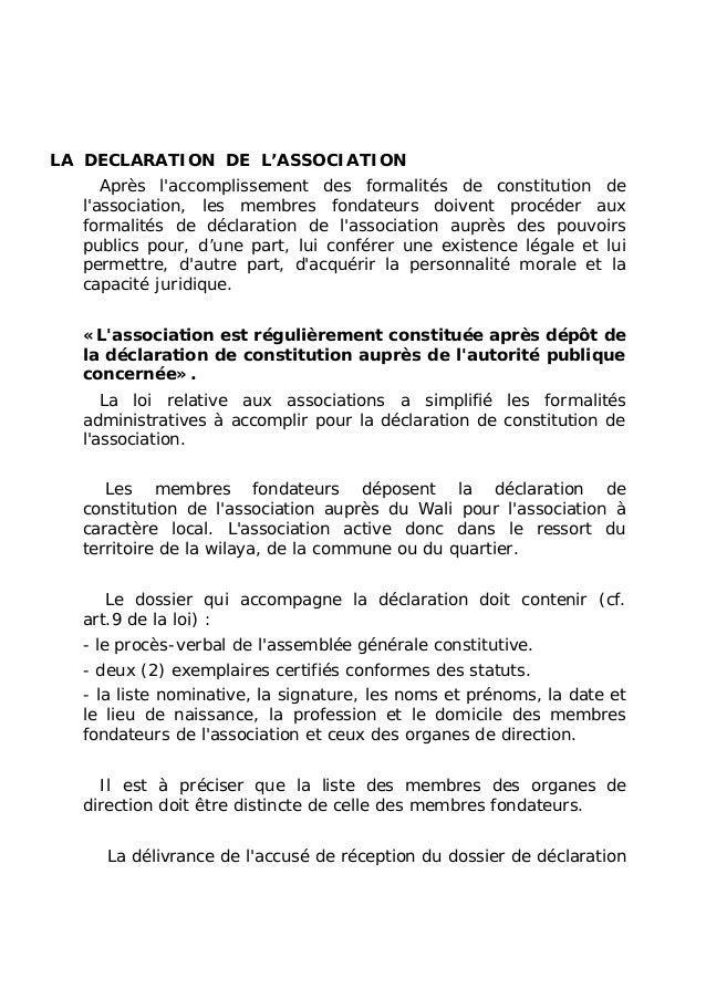 Association le guide for Exemple reglement interieur association
